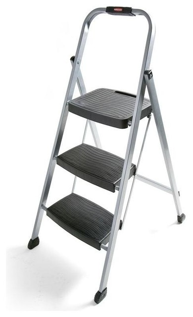 Rubbermaid 3 Step Steel Step Stool Contemporary