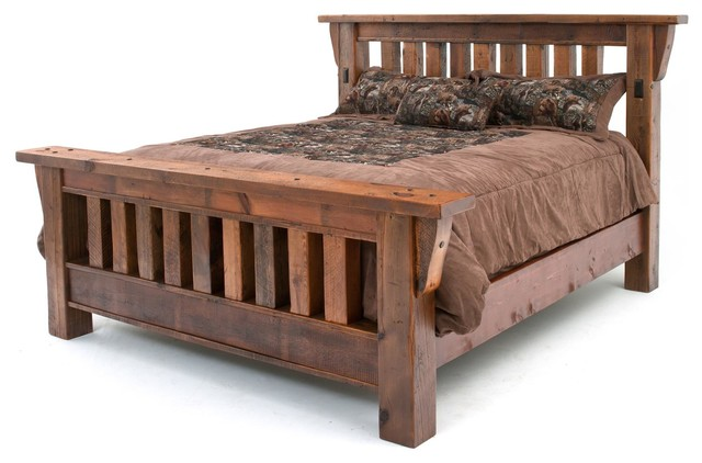 Barnwood Mission Bed Rustic Bedroom Products By