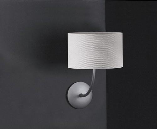 Tao One Light Wall Lamp in White Raffia modern-wall-lighting