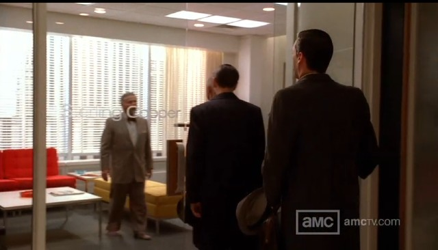 modern home office Mad Men Sets
