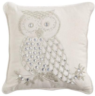 Snow Owl Pillow Contemporary Decorative Pillows By