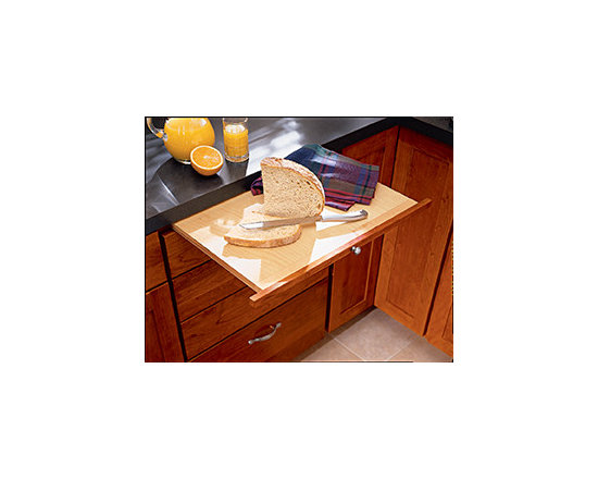 Bread Board - Pull out this convenient bread board when you need a cutting surface and slide it back into the cabinet when not in use.