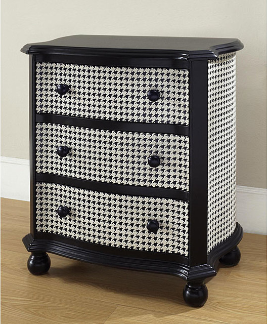 ... and White Houndstooth Accent Chest eclectic-accent-chests-and-cabinets