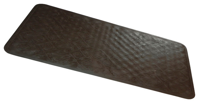 39 39 slip resistant rubber bath tub mat in brown traditional bath