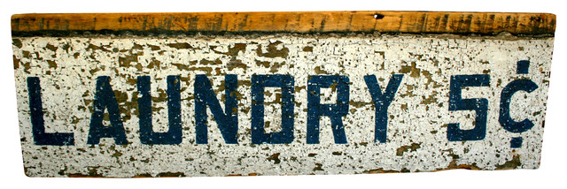 Barn Wood Laundry Sign traditional-novelty-signs