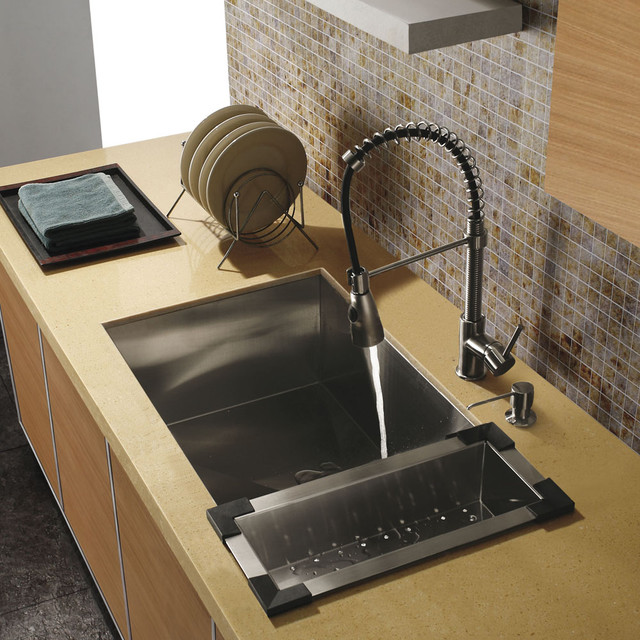 Faucet Sink Kitchen : ... Kitchen Sink & Faucet VG15009 - Traditional - Kitchen Sinks - new york
