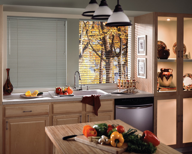 Reveal™ aluminum blinds with Cordlock contemporary-window-blinds