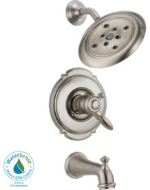 Delta Victorian Stainless 1-Handle Tub and Shower Faucet tub-and-shower-faucet-sets