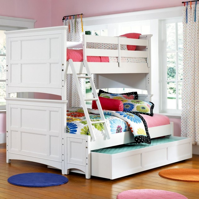 Kenley Twin Over Twin Bunk Bed Traditional Kids Beds