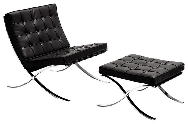 Barcelona Lounge Chair And Ottoman Midcentury