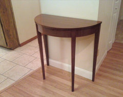 Mahogany Demilune table traditional side tables and accent tables