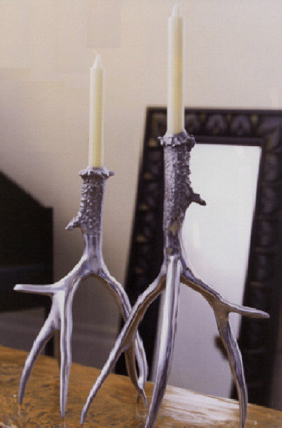 Antler Candlesticks traditional-candleholders