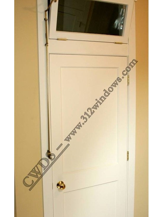 Interior door with transom -