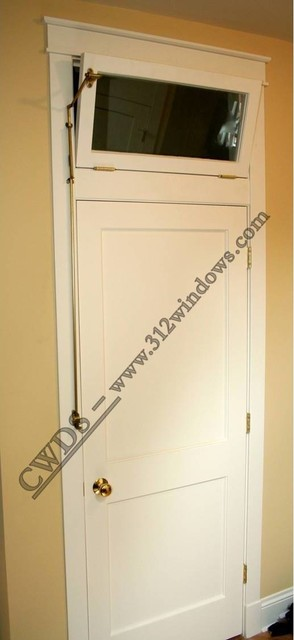 Interior door with transom