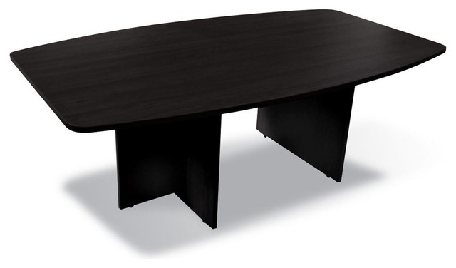 Jesper - 100 Collection - Boat Shaped Meeting Table - Espresso modern