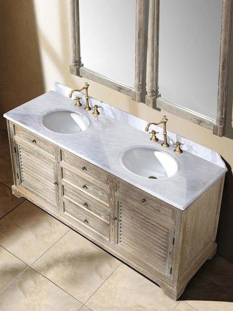 71 veroli double sink vanity driftwood transitional for 71 inch double sink bathroom vanity