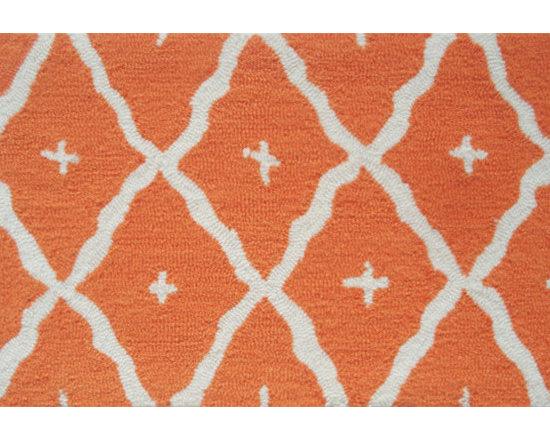 The Rug Market - TANGIER ORANGE ,Area Rug ,size   5x7 - This contemporary rug is made of UV Poly and will surely add color to any space