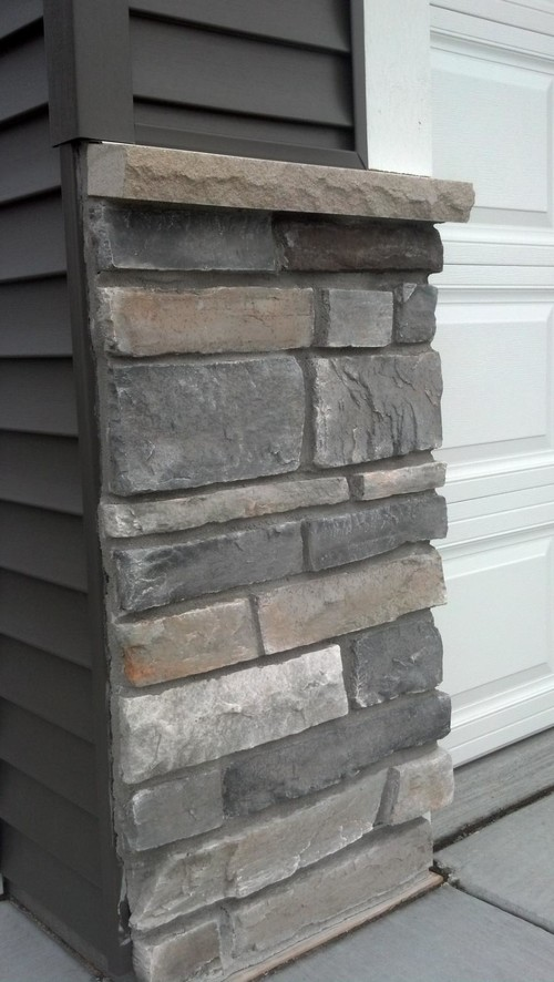 Where can i find this dark gray vinyl siding and stone Vinyl siding that looks like stone