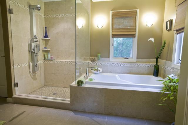 Caribbean flair master bath tropical bathroom for Caribbean bathroom design ideas