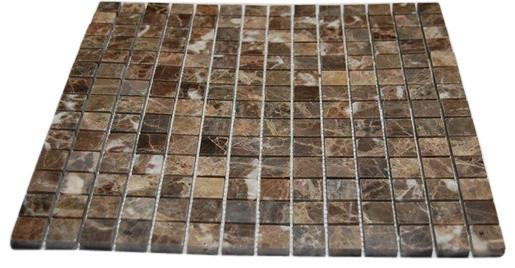 Dark Emperador 1x1 Marble Mosaic Tiles modern-mosaic-tile