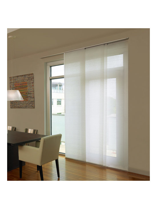 Levolor - Levolor Panel Track Blinds: Designer Textures Light Filtering - Levolor panel track blinds offer a versatile solution for larger windows or as a room divider.  Protect your view and reduce glare with this Designer Textures Light Filtering material.