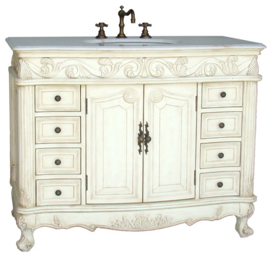 "42"" Classic Style Loehman Bathroom Sink Vanity traditional-bathroom-vanities-and-sink-consoles"