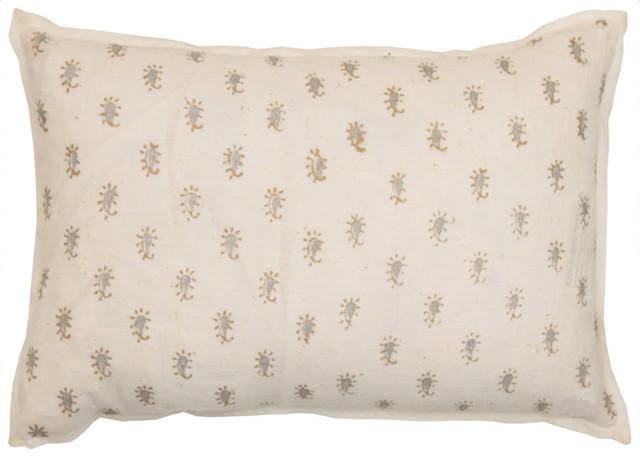 block printed pillow small asian decorative pillows