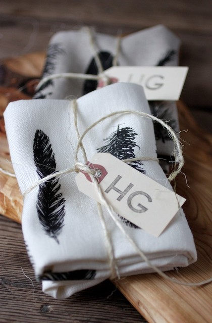 Feather Kitchen Linen eclectic dishtowels