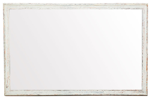 White Wood Frame : Raw Vintage Wood Frame Mirror, White - Modern - Wall Mirrors - by ABC ...