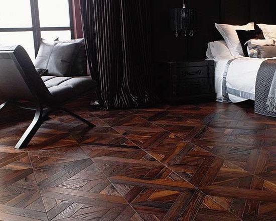 Porcelanosa Roble Ebano Luxor herringbone parquet flooring - Porcelanosa Roble Ebano Luxor herringbone parquet flooring