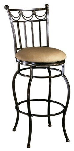 Hillsdale Camelot 26 in. Swivel Counter Stool traditional-bar-stools-and-counter-stools