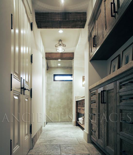 Bathroom Stone Counters & Floors traditional-tile