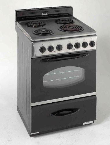"24"" Electric Range, Stainless Steel with Black modern-gas-ranges-and-electric-ranges"