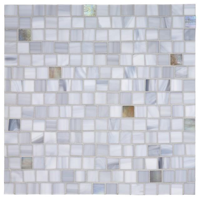 Tempo Squares Glass Mosaic Tile contemporary-tile