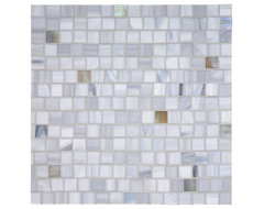 Tempo Squares Glass Mosaic Tile contemporary kitchen tile