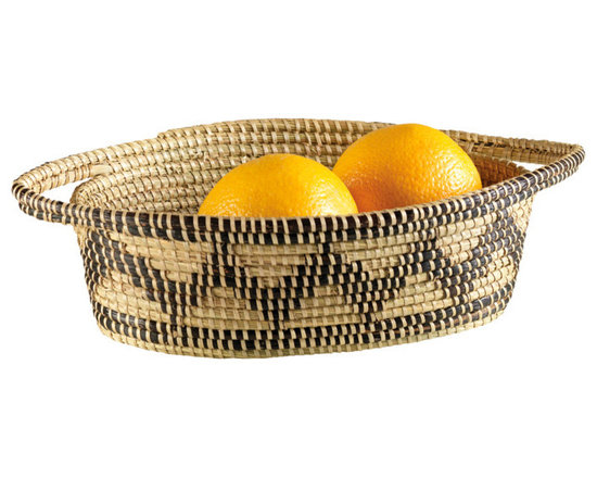 Coiled Oval Basket -