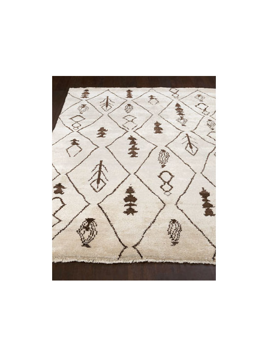 "Safavieh - Safavieh ""Moroccan Diamond"" Rug, 6' x 9' - With its mix of tribal-inspired motifs arranged amid a diamond pattern, this striking rug introduces a note of intrigue to the room. Hand knotted of wool with viscose highlights. Sizes are approximate. Imported. See our Rug Guide for tips on how..."
