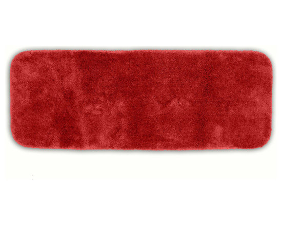 "Sands Rug - Posh Plush Garnet Washable Bath Rug (1'10"" x 5') - Revel in spa-like luxury every time you step into your bath with the Posh Plush collection of bath rugs. The amazingly soft, yet durable, nylon plush is machine washable, and each floor piece has a non-skid latex backing for safety."