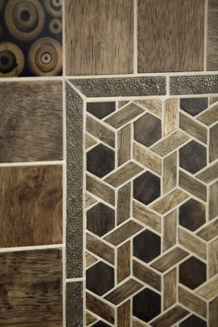 Mu Wood Tiles, Pewter Bars, Mu Wood tile