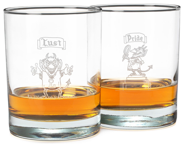 The 7 Deadly Sins Glasses contemporary-everyday-glassware