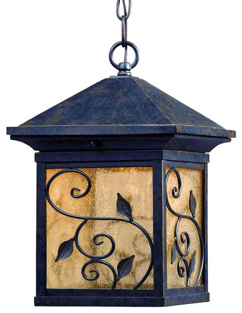 Triarch 79117-12 LED Exterior Weathered Bronze Outdoor Hanging Lantern contemporary-outdoor-lighting