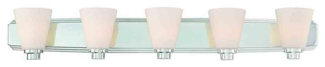 Dolan Designs 3405-26 Southport Chrome 5 Light Vanity Light contemporary-bathroom-vanity-lighting