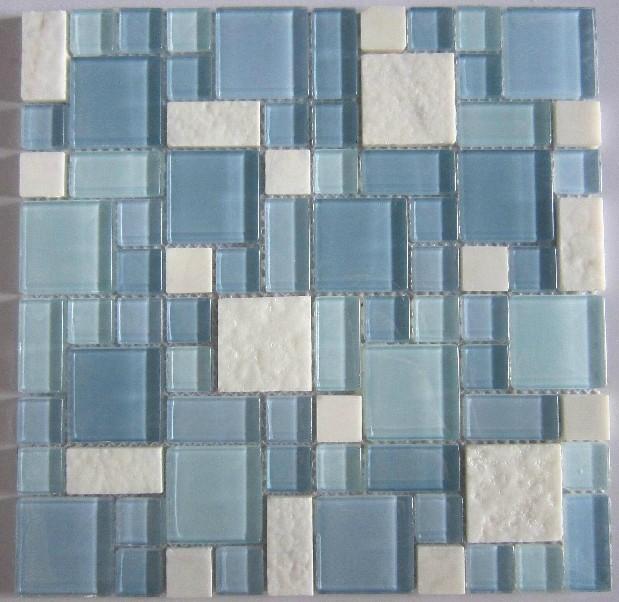 Glass Stone Mosaic Kitchen Backsplash Tiles Glass Wall Tiles SGMT067 Modern