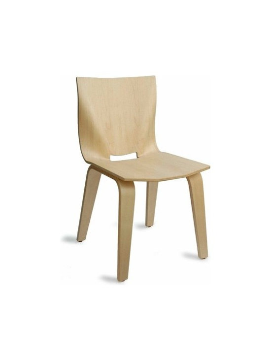 Osidea - Osidea | V Dining Chair - Design by Po Shun Leong.The V Dining Chair features a simple, clean design and has a great presence in the modern dining room. The molded plywood seat and back is formed into unique and subtle curves that are visually inviting and offer comfort and support for the user. The legs of the chair are formed to create a bold, yet elegant stance. V Dining Chair is available in a variety of wood finish options.