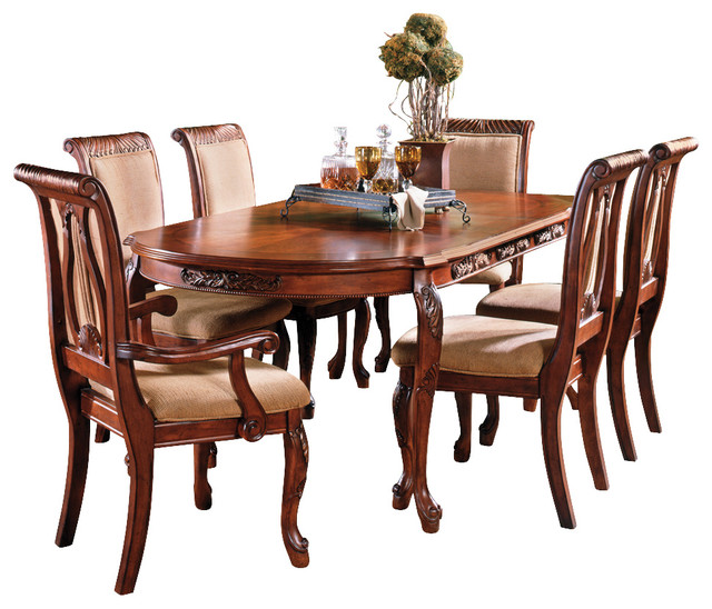 Steve Silver Harmony 7 Piece Oval Dining Room Set In