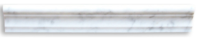 Carrara Marble Chair Rail Molding 2x12 Polished traditional-molding-and-trim