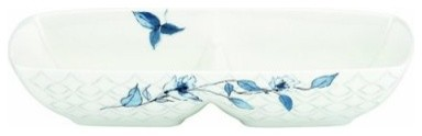 Lenox Watercolor Indigo Blue Divided Server modern-serving-dishes-and-platters