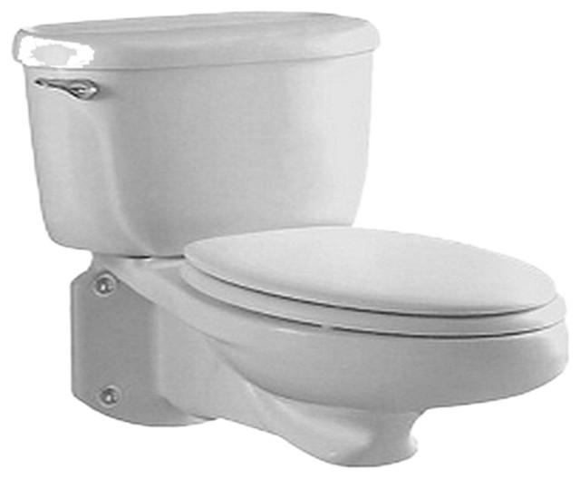 American Standard 2093.100.020 Glenwall Pressure-Assisted Toilet, White modern-toilets