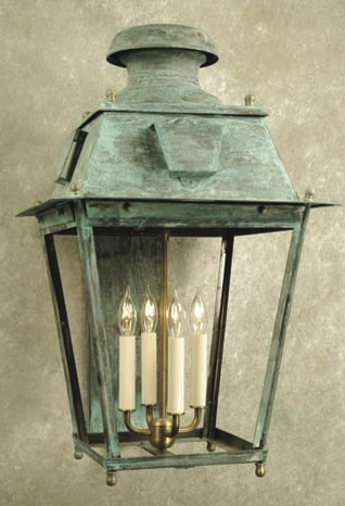 Ellis Square Hand Crafted Copper Wall Lantern Traditional Outdoor Wall Lights And Sconces