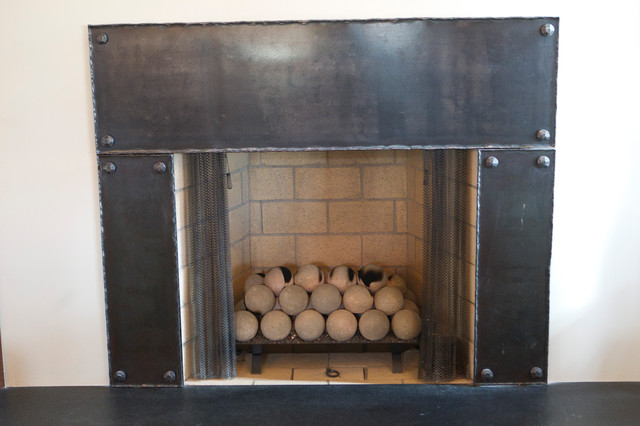 New Works from Oak hill Iron eclectic-fireplace-mantels